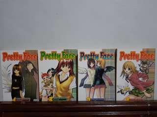 Pretty Face vol.1-4 English Manga