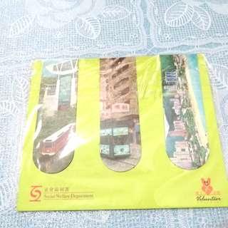 全新香港風貌特色書簽磁貼