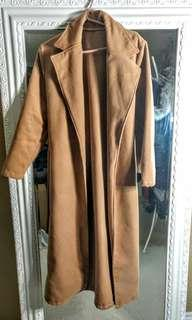Camel trench coat (size medium)
