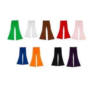 Fashionable semi-flared, ultra comfort stretch jazz pants