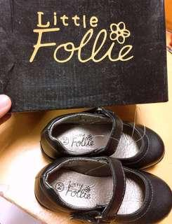 Little Follie Girl's Black Shoes
