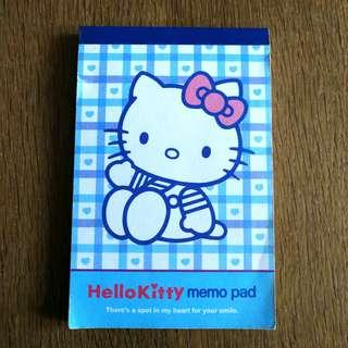 Sanrio Hello Kitty memo pad 簿仔 2 designs Made in Japan 日本限定