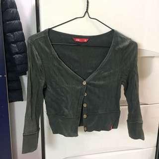 Esprit 灰黑色短身外套 100%cotton 有污跡
