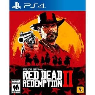 Red Dead Redemption 2 for PS4 - W/ Map & War Horse DLC