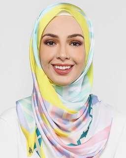 Geometric Duckscarves in Lemon Mint