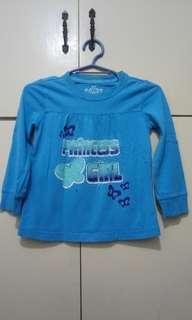 GA113 Princess Girl Blue Blouse 2 Years Old - see pics for flaw