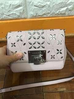 全新Michael Kors Tina 粉紅手袋