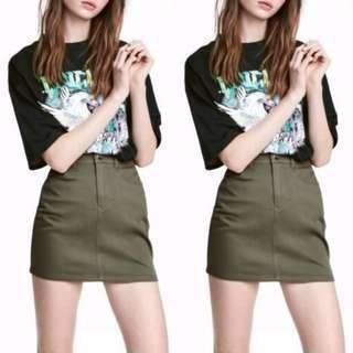 A-line Denim Blue High Waist Jeans Skirt