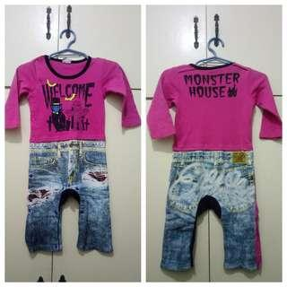 MA214 Monster House Baby Clothes up to 12 months