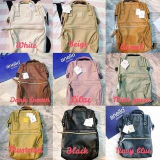 ANELLO Leather Backpacks (different colors)