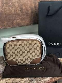 Gucci Bree Canvas Bag with gift receipt