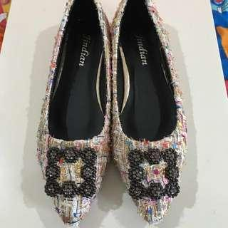 Inspired Manolo Blahnik Tweed Flats