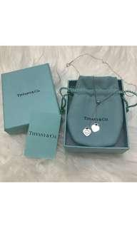 Authentic TIFFANY & CO. double hearts necklace