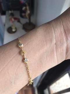 18K saudi gold bracelet with white gold