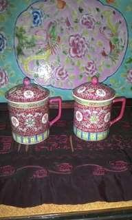 Set of 2 Chinese porceline mug