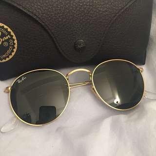 *BRAND NEW* RayBan Gold Metal Round Sunglasses