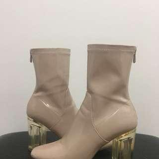 Boohoo Patent Leather Boots