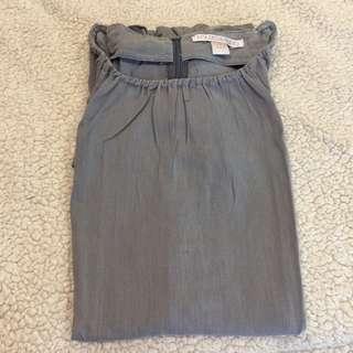 Folded and Hung Gray Tunic Top / Minidress