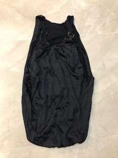 💥免費 FREE💥特式雙層黑色銀扣二手連身裙 2nd Hand silver buckle black special two layers one piece dress