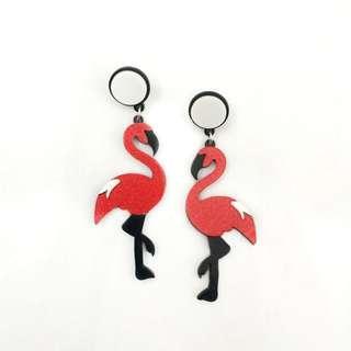 Flamingo Red Earring (acrylic model)