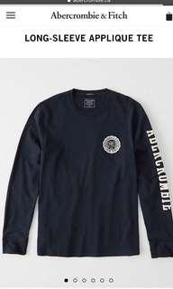 Abercrombie & Fitch Long-Sleeve Applique Tee