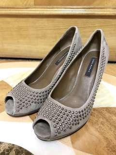Zara woman grey heels 女裝灰色高跟鞋
