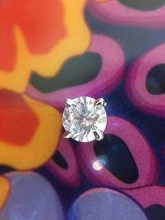💓✨ 18K金 天然鑽石(45份)耳釘一隻✨💓