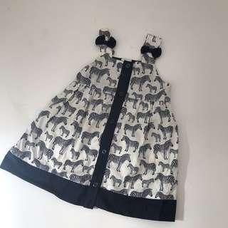 Baby girl dress patterned from Thailand 18-24m