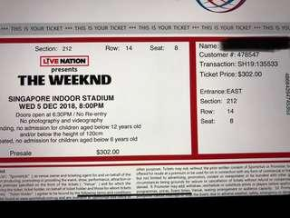 The Weeknd Cat 2 great seats