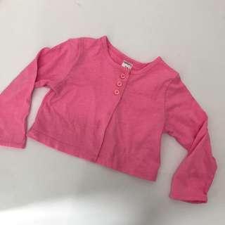 Carter pink cropped jacket 24m