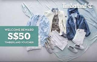 Timberland $50 vouchers - only can be used on shoes