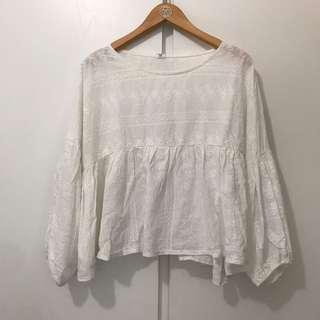 White autumn top size s