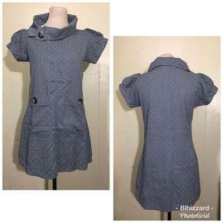 Polka dots Gray Dress