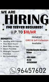 WE ARE HIRING $8hr UP TO $10hr