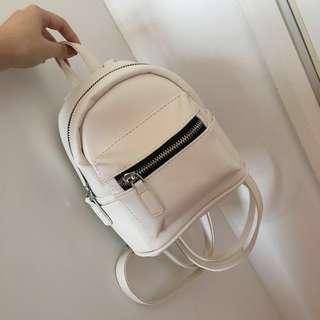 INSTOCK | ulzzang mini leather backpack - white