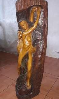 Adam and Eve Sculpture Antique