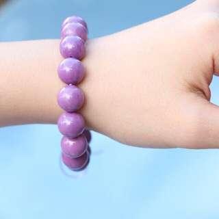 Natural purple mica bracelet