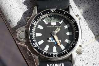 Vintage  Citizen C020 Aqualand diver Dacor Dial 1985