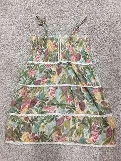 Mini dress beach wear leaves pattern #prelovedwithlove
