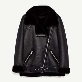 ZARA oversized biker jacket