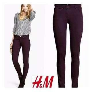 H&M skinny jeans dark purple