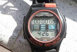 Vintage Citizen D132 Shock Sensor 跑步電子錶