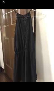 H&M Black Halter Dress