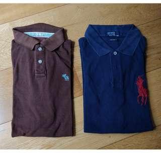 Men's RL and Abercrombie shirts