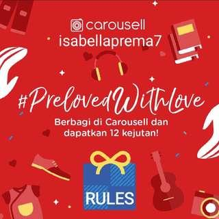 #PrelovedWithLove Rules