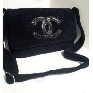 New-Chanel VIP Gift Black Soft Cross Body Bag