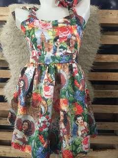 Vintage printed dresss