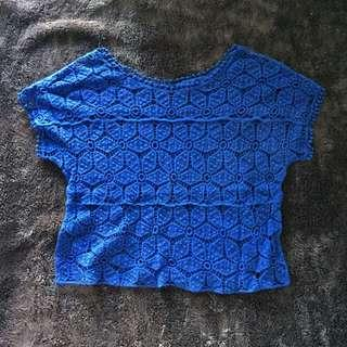 Knitted top blue