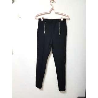 🚚 [售/換] 刷毛拉鏈造型窄管長褲