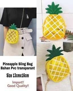 Pineapple sling bag transparant